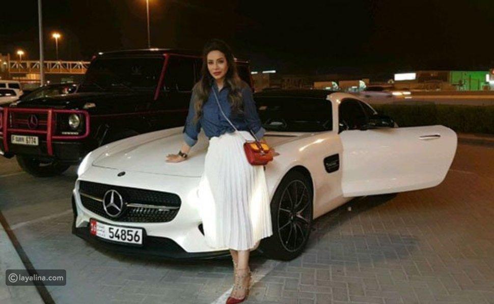 فيديو وصور سيارة مرسيدس هدية للإعلامية لجين عمران