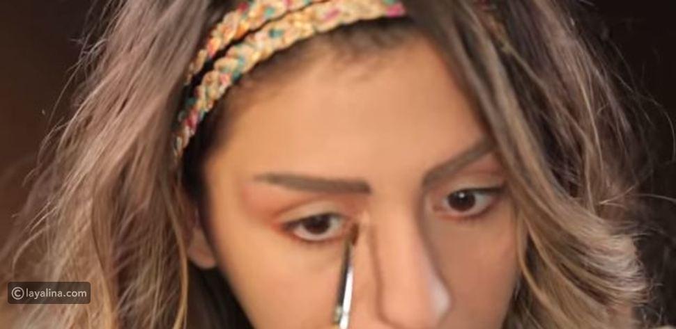 كيفية تطبيق مكياج عيون بلون أحمر خطوة بخطوة