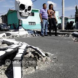 شاهد: قصة هيكل عظمي عملاق موجود في وسط مدينة مكسيكية