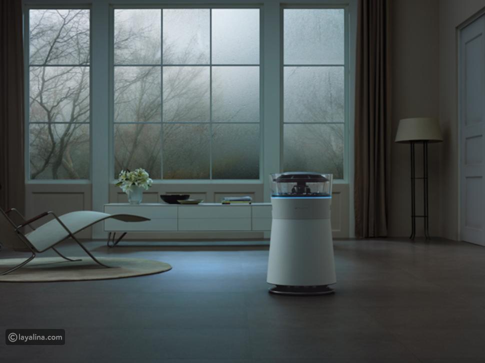 جهاز LG Hub Robot الذي يعمل في آن واحد كمركز لاتصالات البيانات في المنزل الذكي